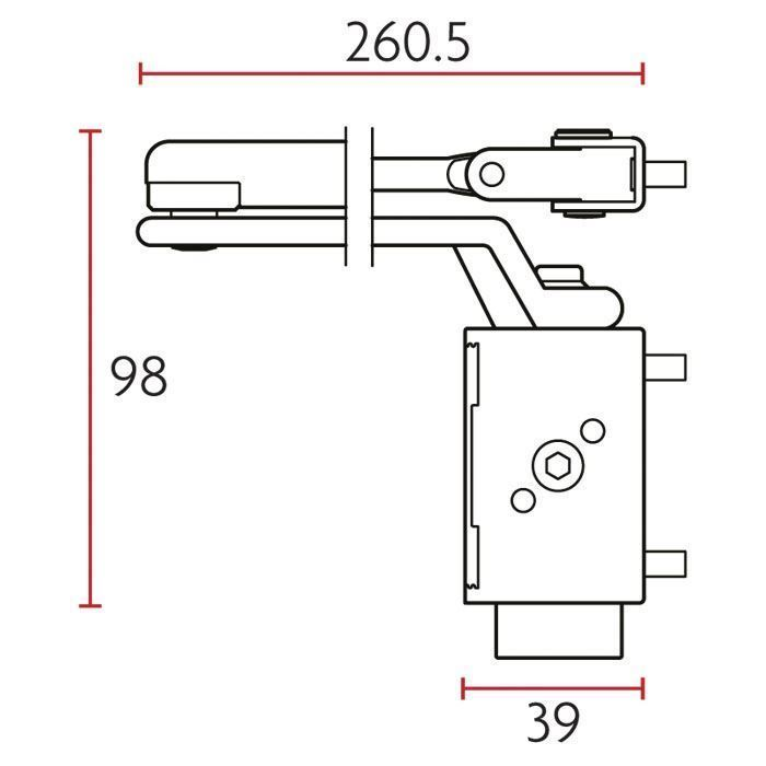 Picture of Sabre 835 Door Closer - Standard Arm With Cover