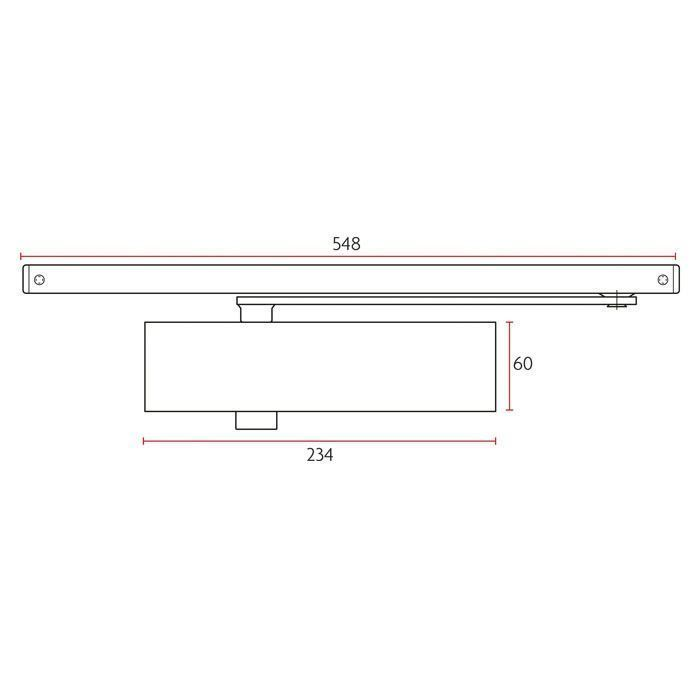Picture of Sabre 835 Door Closer - Track Arm With Cover