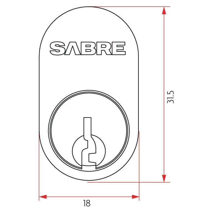 Picture of Sabre Oval Cylinder C4 6 Pin