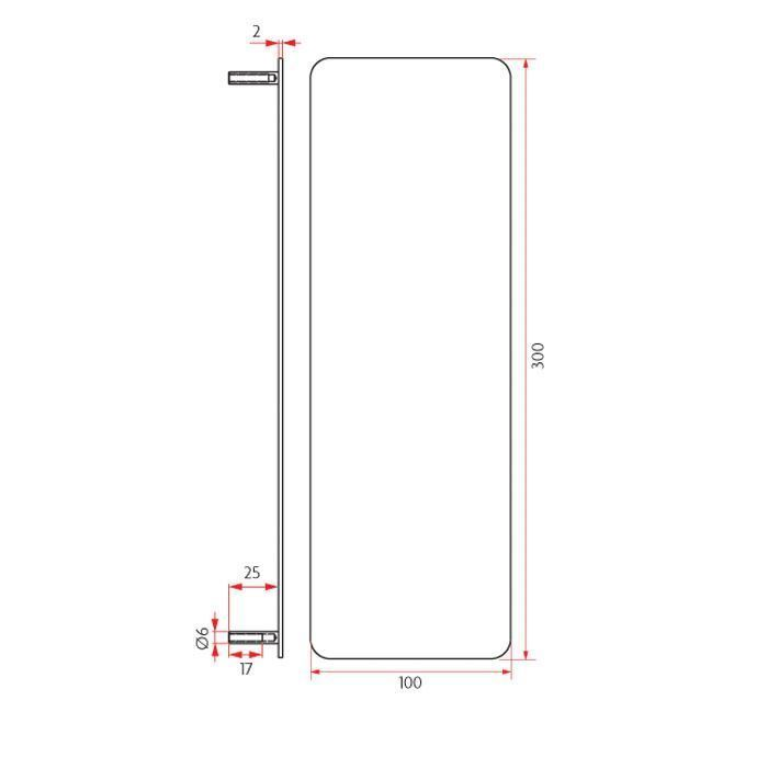 Picture of Sabre Push Plate Concealed Fix - 100mm
