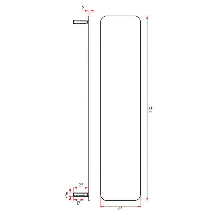 Picture of Sabre Push Plate Concealed Fix - 65mm